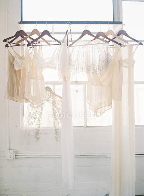 Light chiffon clothes and underwear — Stock Photo