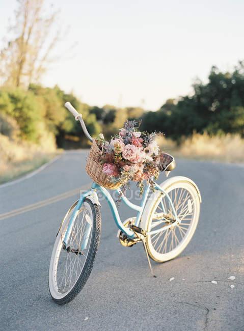 Велосипед стоїть на дорозі — стокове фото