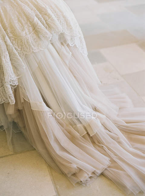 Beautiful vintage wedding dress — Stock Photo