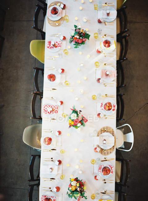 Conjunto de mesa de casamento — Fotografia de Stock