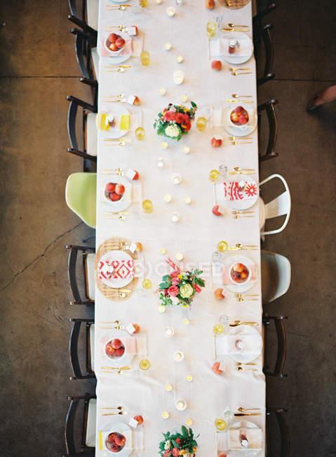 Impostare la tavola di nozze — Foto stock