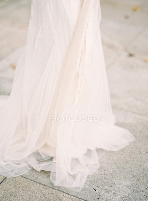 Beautiful wedding dress — Stock Photo