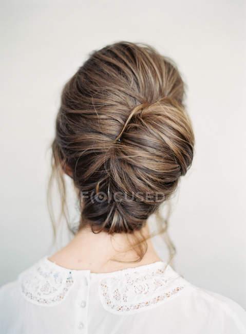 Wedding elegant hairstyle — Stock Photo