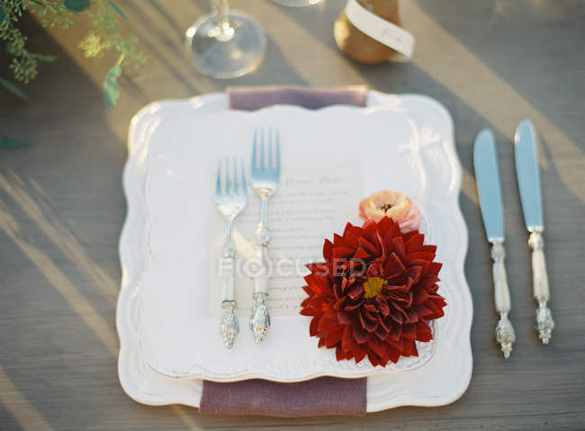 Посуд з весілля прикраса — стокове фото
