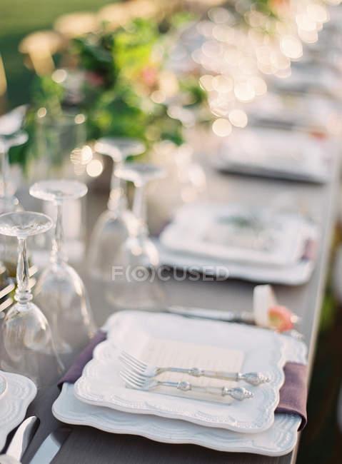 Hochzeitstisch — Stockfoto