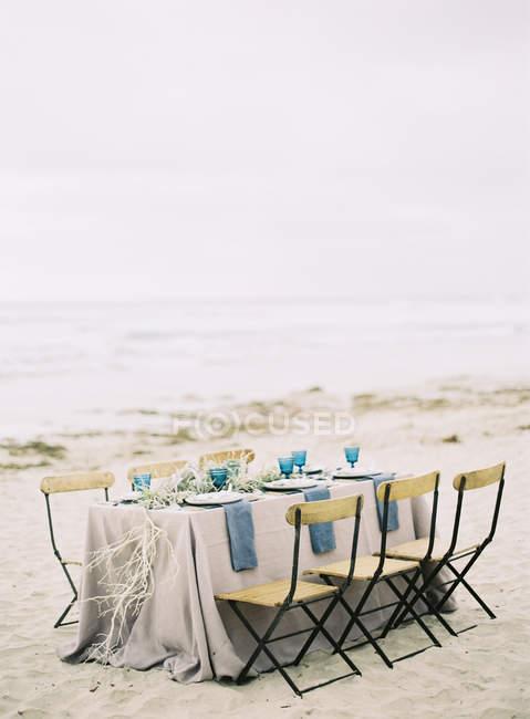 Таблиця обстановці весілля — стокове фото