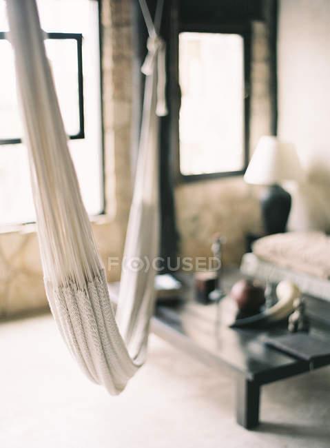 Hammock hanging in room — Stock Photo