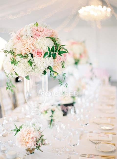 Wedding setting table — Stock Photo