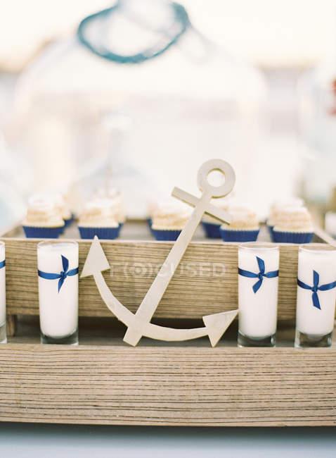 Decoração de casamento marinho — Fotografia de Stock