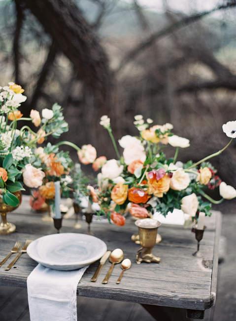 Table de réglage de mariage — Photo de stock