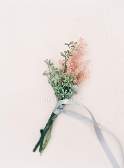 Fresh floral boutonniere — Stock Photo