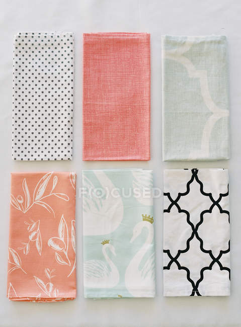 Colorful patterned napkins — Stock Photo