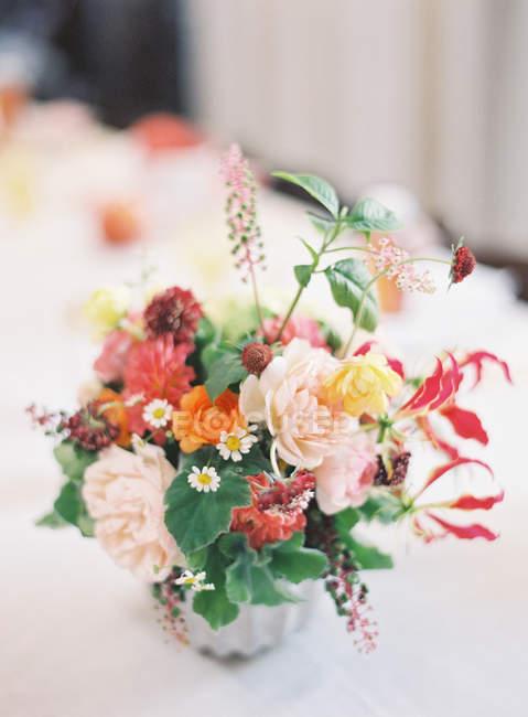 Fresh bouquet of summer flowers — Stock Photo