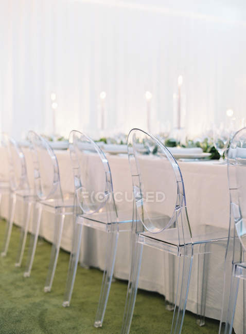Весільний сервірування столу — стокове фото