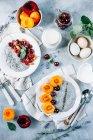 Chian Pudding aux abricots et cerises — Photo de stock