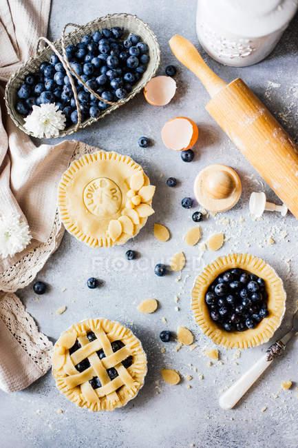 Torte casalinghe del mirtillo — Foto stock