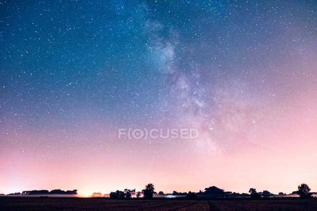 Starry summer sky — Stock Photo