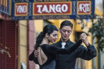 Couple dancing tango — Stock Photo