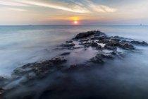 Coast with sunrise, Ao Thian, Thailand — Stock Photo