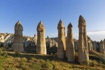 Fairy chimneys, phallus-shaped tufa formations — Stock Photo