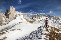 Mountaineer during ascent of Mt Tullen — Stock Photo