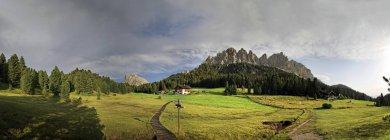 Panoramic view from Wuerzjoch ridge — Stock Photo