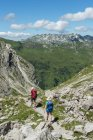 Hikers in Allgau Alps mountains in Bavaria, Germany, Europe — Stock Photo