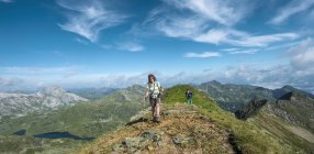 Hikers at Schladming Tauern, Schladming, Styria, Austria — Stock Photo