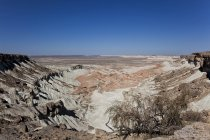 Barren landscape of Yangykala Canyon in Turkmenistan, Asia — Stock Photo