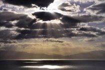 Scenic sunrise over Dead Sea in Negev Desert, Israel — Stock Photo