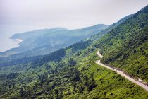 Winding road through Hai Van Pass, Da Nang, Vietnam, Asia — Stock Photo