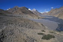 Barren ground in Pare Chu river valley in Himachal Pradesh, Indian Himalayas, India — Stock Photo