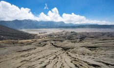 Volcanic landscape into caldera Tengger in Bromo Tengger Semeru National Park, Indonesia, Asia — Stock Photo