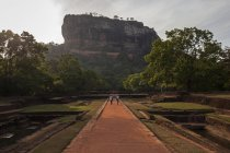 Sigiriya Lion Rock fortress in Central Province of Sri Lanka, Asia — Stock Photo