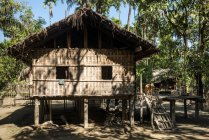House in village of Chin people in Rakhine State of Myanmar, Asia — Stock Photo