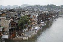 Cityscape of old town, Phoenix Town, Xiangxi, Hunan Province, China, Asia — Stock Photo