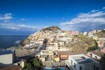 Cityscape of coastal town Castelsardo, Sardinia, Italy, Europe — Stock Photo