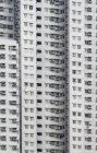 Facade of high-rise building in Kowloon, Hong Kong, China, Asia. — Stock Photo