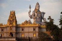 Riesige Statue von Lord Shiva am Murudeshwar Tempel, Murudeshwar, Karnataka, Indien, Asien — Stockfoto