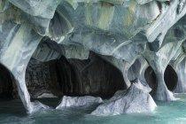 Bizarre rock formation at Lago General Carrera lake, Puerto Rio Tranquilo, Chile — Stock Photo