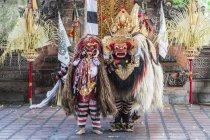 Danseurs traditionnels balinais Barong et Kris Dance à Ubud, Bali, Indonésie, Asie — Photo de stock