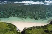 Aerial view of huts and seawater plantations of Bali Cliff, Bali, Indonesia, Asia — Stock Photo