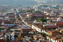 Aerial cityscape of old town of Sucre, Chuquisaca, Bolivia, South America — Stock Photo