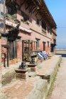 Building exterior of Bagh Bairab Temple, Kirtipur, Nepal, Asia. — Stock Photo