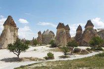 Tufa formations of Valley of Monks, Goreme National Park, Cappadocia, Turkey — Stock Photo