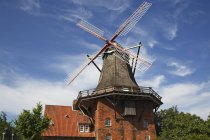 Building of windmill Aurora in Jork-Borstel, Germany. — Stock Photo