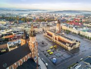 Aerial view of historic market square of Krakow, Poland, Europe — Stock Photo