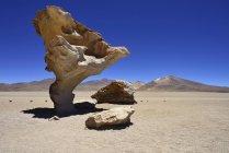 Albero di pietra formazione rocciosa presso Altiplano, Sur Lipez, Bolivia, Sud America — Foto stock