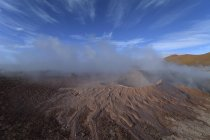 Hot spring with mud pools and steam of geyser field Sol de Manana, Altiplano, Bolivia, South America — Stock Photo
