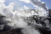 Fumarolas em geotérmica campo Sol de Manana, Potosi, Bolívia, Ámérica do Sul — Fotografia de Stock